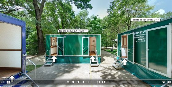 Tur virtual toalete ecologice de lux